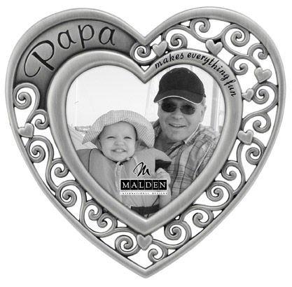 - Malden Papa Heart Picture Frame