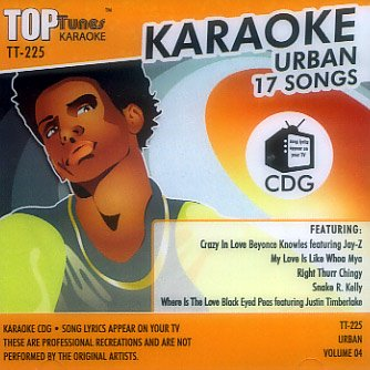Top Tunes Karaoke CD+G Urban Vol. 4 TT-225