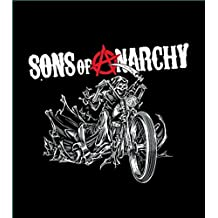 """Sons Of Anarchy Reaper Blanket- Soft Plush Thick, Queen Size 79""""X94"""" Reaper on Moto Bike M"""