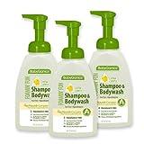 Babyganics Foaming Fun Shampoo and Body Wash, Fragrance Free, 16 Fluid Ounce (Pack of 3), Baby & Kids Zone