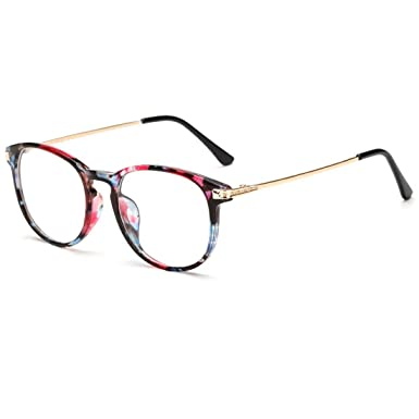 VEVESMUNDO Eyewear Frame Women Men Retro Metal Round Rivet Vintage Clear  glasses Fake Glasses with hard 749be822a6