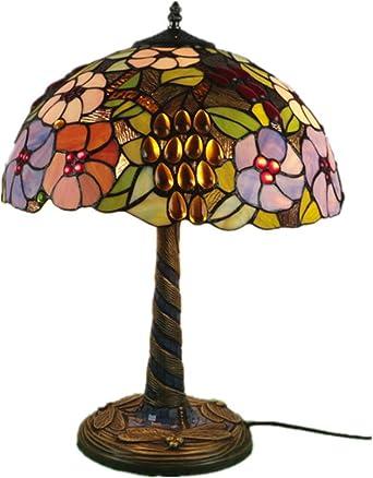 Estilo de Tiffany lámpara de mesa de 16 pulgadas de ancho Stained ...