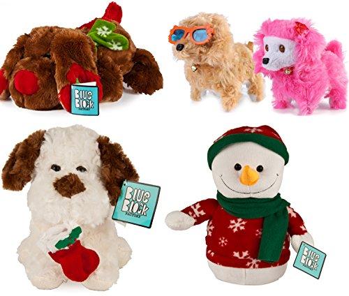 4 Pack Holiday Christmas Plush Stuffed Animal Set Dog Penguin Snowman Kids Toys Gift (Christmas Stuffed Animals)