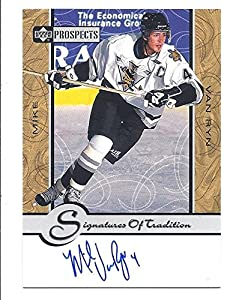 MIKE VAN RYN 1999-00 Upper Deck Prospects Signatures of Tradition #MV AUTOGRAPH Card Sarnia Sting Arizona Coyotes Hockey