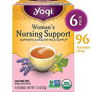 Yogi Tea - Woman's Nursing Support - Supports a Healthy Milk Supply - 6 Pack, 96 Tea Bags Total