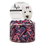Aria America's Pup Bows for Dogs, 48-Piece Canisters