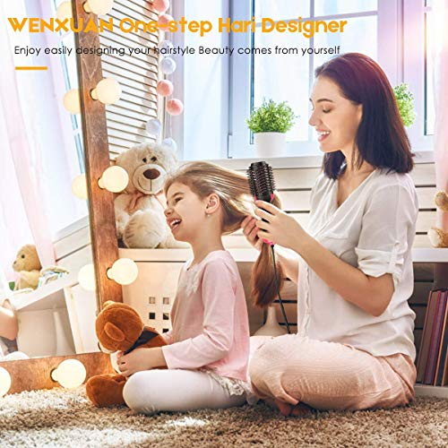 YJF Hot Air Brush One Step Hair Dryer & Volumizer 3-in-1 Electric Hair Blow Dryer & Styler Negative Ionic Salon Straightening Brush and Curly Hair Comb by YJF (Image #5)