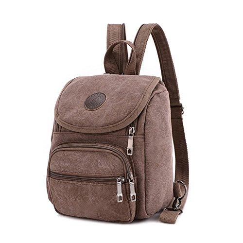 Z-P Unisex Canvas Casual Daypack Laptop Bag Schoolbag Travel Storage - Online Shop Versace