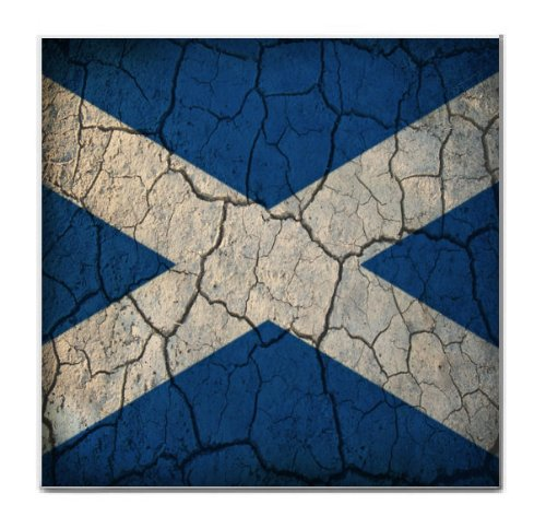 Scotland Flag Crackled Design Tile Trivet