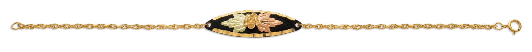 Black Hills Black Powder Coat Bracelet with 10K Gold Trim