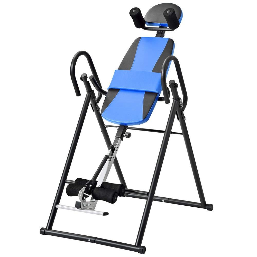 超厚い背部との頑丈な逆転はテーブルの慰めの背部伸張機械までサポートします 足首ホルダー (色 : 青, サイズ : 152*74*115CM) 青 152*74*115CM