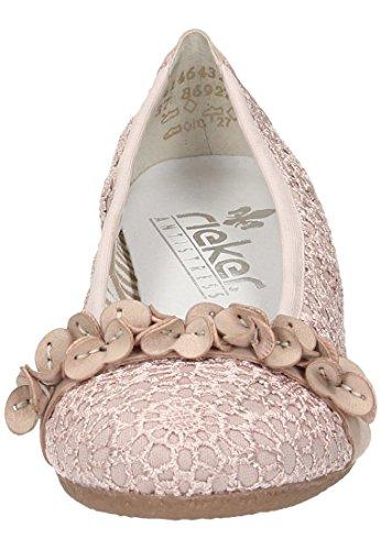 Rieker Damen-slipper Rosa 942266-42 Altrosa/altrose