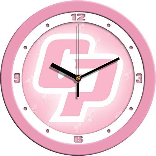 SunTime NCAA California Polytechnic State University Wall Clock - Pink