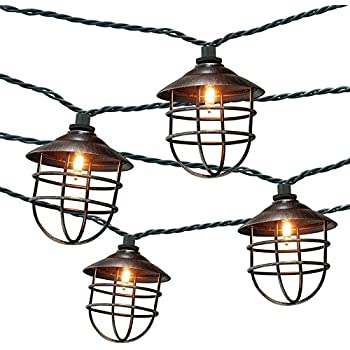 Amazon Com Patio String Lights Oil Lantern Style Indoor Outdoor