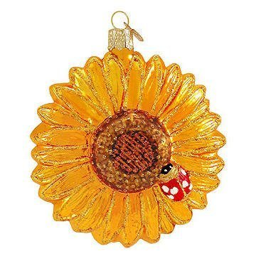 Old World Christmas Sunflower Glass