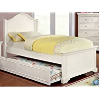 247SHOPATHOME Idf-T7943WH-TR Childrens-Bed-Frames, Twin, White