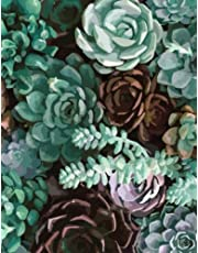 Succulent Notebook: Watercolor Succulents Plants Cactus Journal Notebook 110 Page Composition Book Diary Planner Cactus Lover Gifts (8.5 x 11 inch)