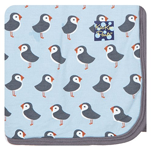 Kickee Pants Big Boys' Swaddling Blanket in Pond Puffin, One size