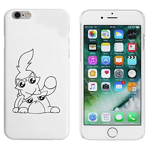 Weiß 'Verspielte Katzen' Hülle für iPhone 6 u. 6s (MC00001254)