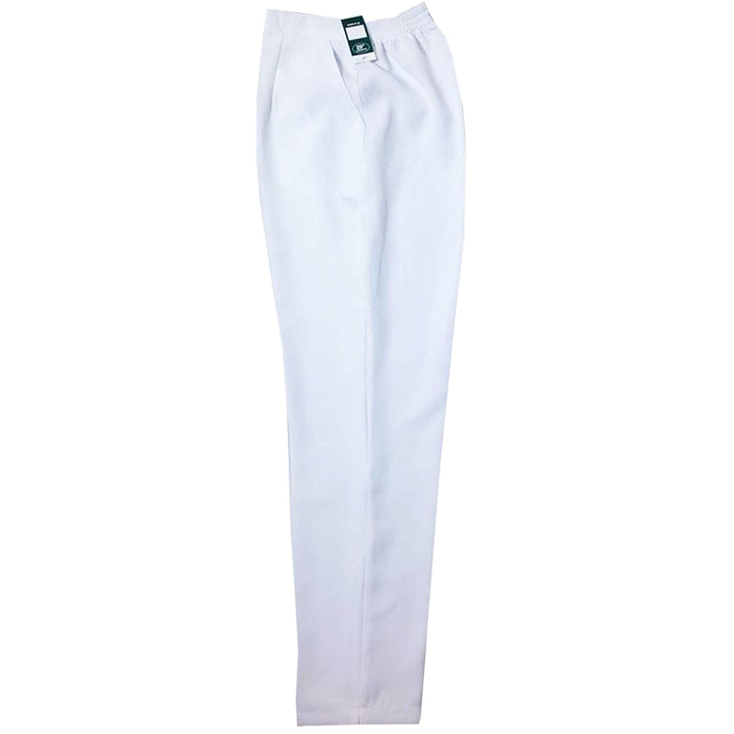 Inspire Me Ladies Womens Half Elasticated Waist Work Trousers Stretch Trousers with Pockets Pants Machine Washable Ladies Casual Trousers
