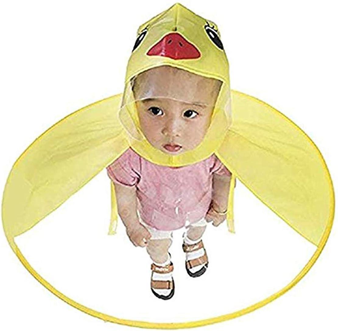 Kinder Ente Regenmantel UFO Regenmantel Kinder Regenschirm Cartoon Umhang f/ür Kinder