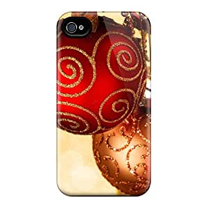 Awesome Design Christmas Sparkle Hard Case Cover For Iphone 4/4s