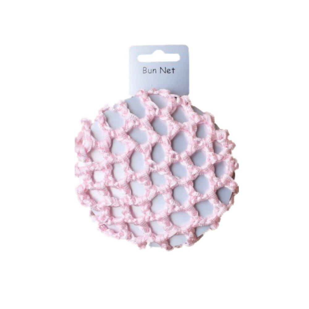 Girls Small Pink Knotted Ribbon Bun Hair net 8cm–Dancewear Ballet Pritties Accessories PRH09049