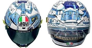 AGV pista GP R Carbono casco Valentino Rossi invierno prueba 2017 Dot L