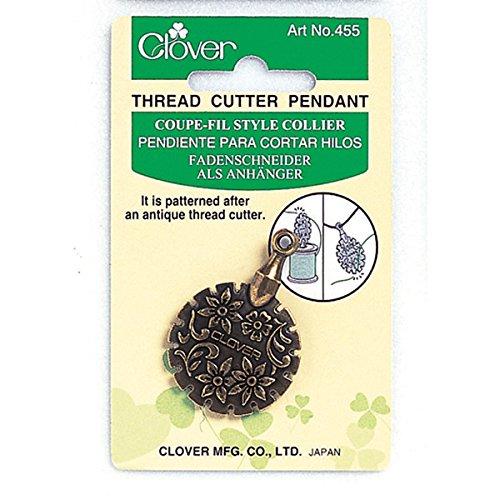 Clover Thread Cutter Pendant, Antique Gold ()
