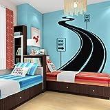 Grand sticker mural en vinyle Stickers Art Decor Design Road Track voiture bande Traffic Sign Chambre d'enfant Cadeau (Vive)