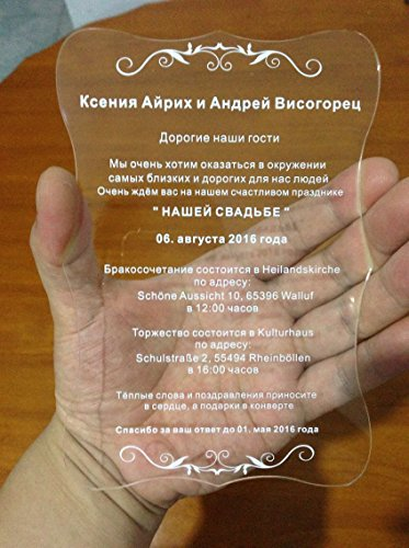 acrylic wedding invitations bestlife best selling acrylic scroll shape clear wedding 1208