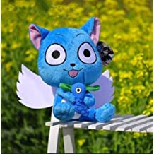 Fairy Tail Happy With Fish Soft Plush Stuffed Animals Doll Kids Toys 30 cm