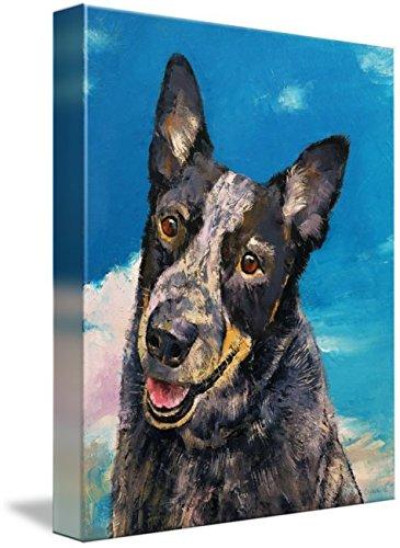 Wall Art Print entitled Blue Heeler by Michael Creese