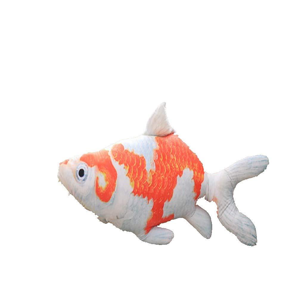 80cm LAIBAERDAN Toy Pet goldfish Plush Doll Tropical Fish Plush Doll Girl Pillow Gift 20406080Cm, 80Cm