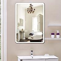 YJIIJY Espejo de Baño con LED Iluminado, Botón