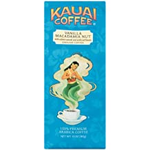 100% Kauai Ground Coffee, Vanilla Macadamia Nut – 100% Premium Ground Arabica Coffee from Hawaii's Largest Coffee Grower - Rich, Naturally Sweet Blend with a Hint of Nuttiness (10 Ounces)