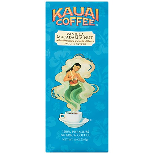 - Kauai Coffee Vanilla Macadamia Nut Ground, 10 Ounce