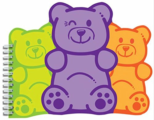 - iscream 'Winking Gummi Bears' Shaped Spiral-Bound Lined Page 6.5
