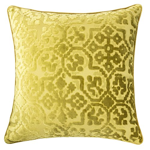 Homey Cozy Modern Velvet Throw Pillow Cover,Olive Green Luxury Soft Fuzzy Cozy Warm Slik Decorative Square Couch Cushion Pillow Case 20 x 20 Inch, Cover Only