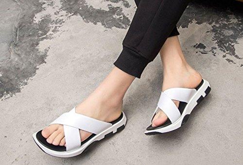 Modèle NBWE White Blanc en Pantoufles Hommes Cuir Anglais WENLSandales pour d'été p8rFpgwq