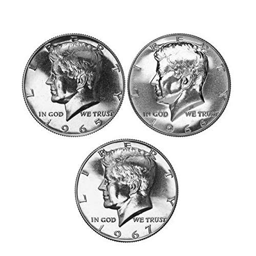 1965 -1967 Various Mint Kennedy Proof Half Dollar 40% Silver Proof Run 3 Coins Gem Proof ()