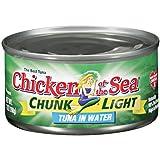 Chicken of the Sea Chunk Light Tuna in Water, 7 Ounce - 24 per case.