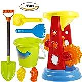VGHJK Children's Beach Toy Set Large Baby Play Sand Digging Sandglass Shovel Tool Girl Toy,F