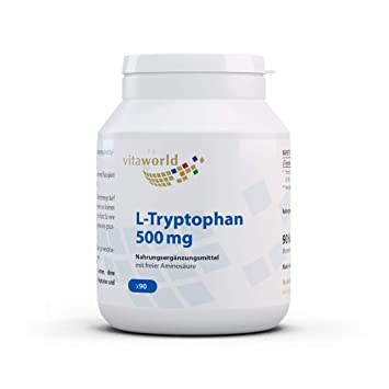 L-Triptófano 500mg 90 Cápsulas Vegetales Vita World Alemania ...