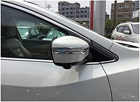 2PCS Chrome Rear view Side Mirror Decorate Trim For Nissan Murano 2015 2016 2017 2018