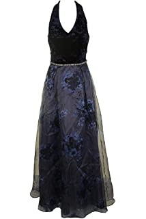 687c885741f Ignite Evenings Women s Gown Floral Pleated Dress Black 8 at Amazon ...