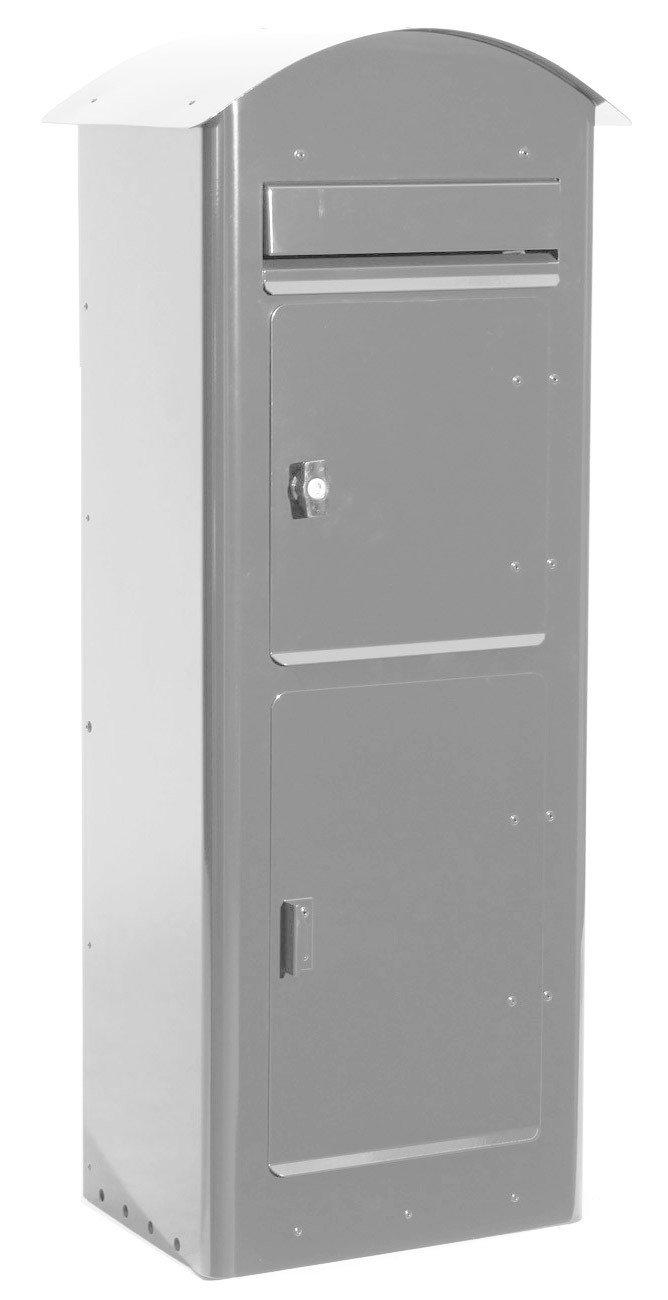 SafePost 80 - Paketbriefkasten - silbergrau - Paketfach - Standbriefkasten - Briefkasten