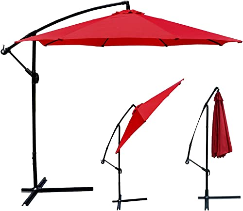 10FT Patio Umbrella Offset Cantilever Umbrella