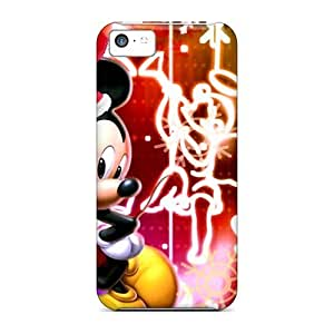 For Iphone 5c Tpu Phone Case Cover(xmas Mouse)