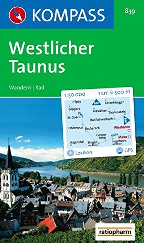 Westlicher Taunus: Wander- und Radtourenkarte. 1:50.000. GPS-genau
